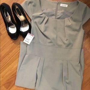 New Calvin Klein Grey Dress